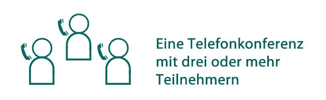 Telefonkonferenz mit drei oder mehr Teilnehmern