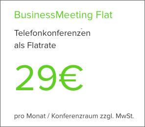Telefonkonferenz-Webseite Flat-Tarif buchen