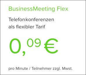 Telefonkonferenz-Webseite Flex-Tarif buchen