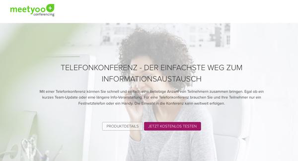 Telefonkonferenzen online buchen bei meetyoo.de
