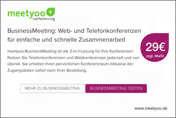 Telefonkonferenz mit Präsentation von meetyoo