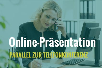 Telefonkonferenz mit Präsentation